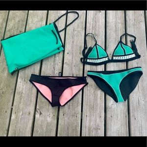 Triangle bikini set with bag